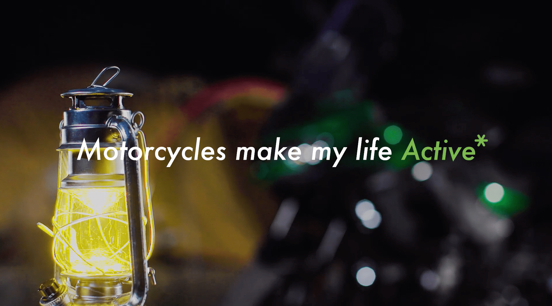Kawasaki Motorcycles make my life Active