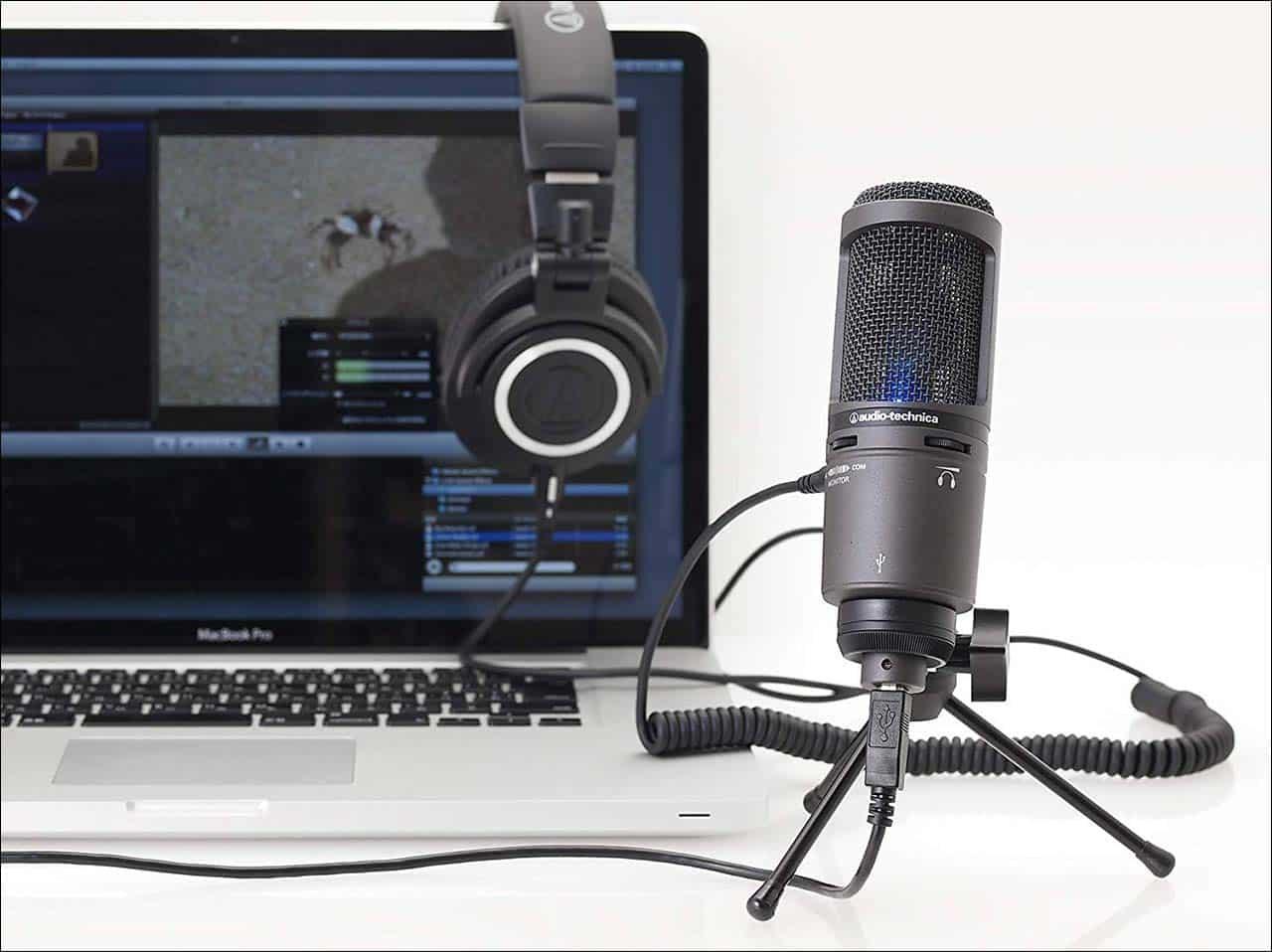 audio-technica AT2020USB+(スタンドマイク)