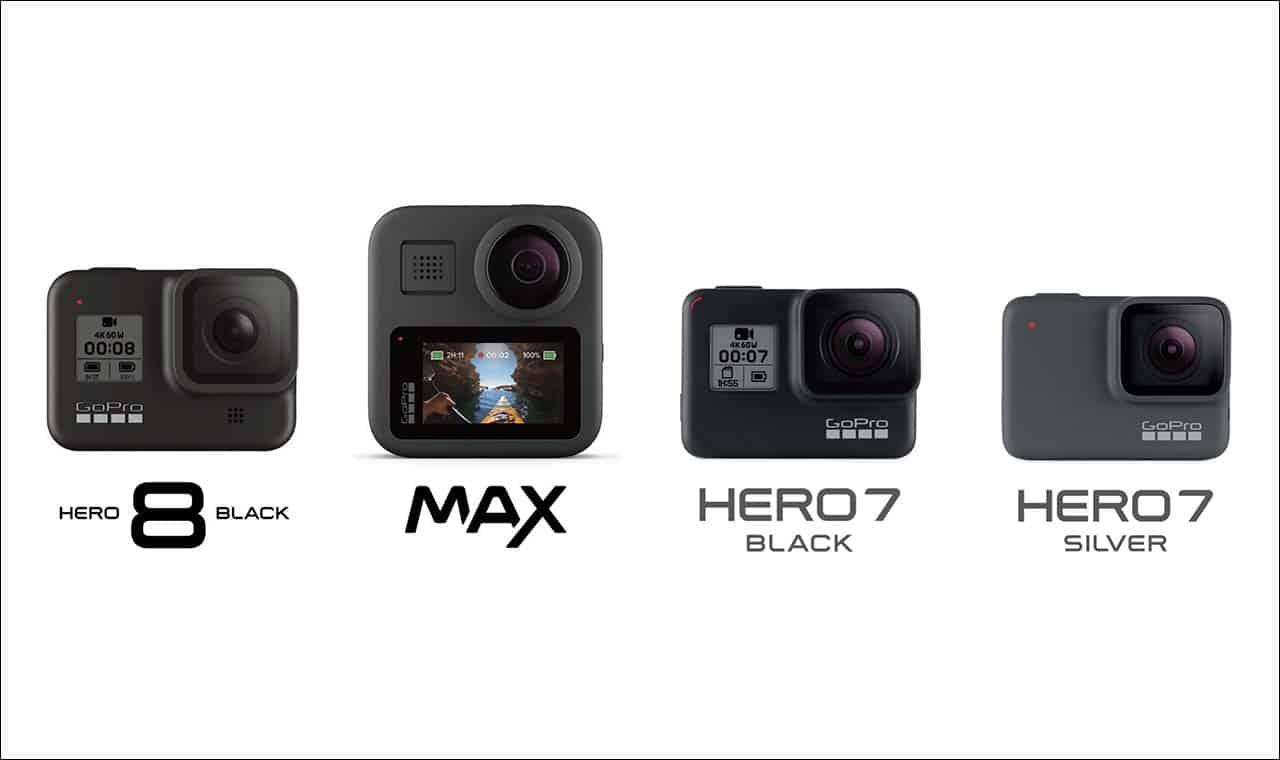 GoPro現行4機種を機能・価格・外観で徹底比較!(2020年最新)